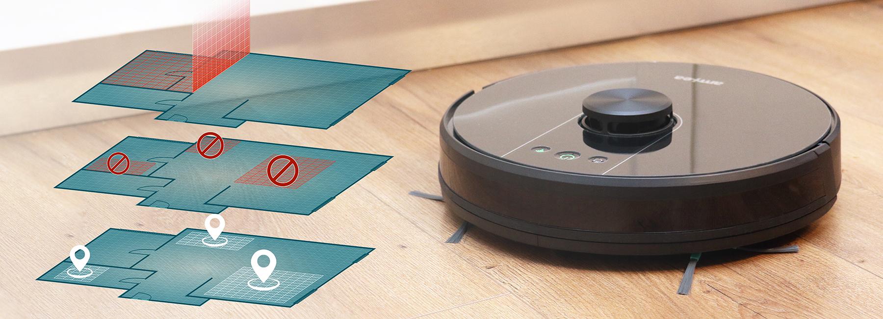 aspirator robot amxea e50 zone curatare si zone interzise